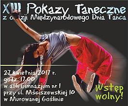 XIII Pokazy Taneczne z okazji Międzynarodowego Dnia Tańca