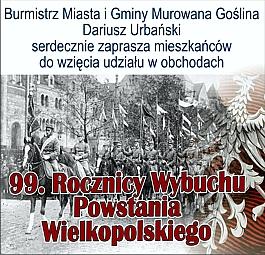 Obchody 99 Rocznicy Wybuchu Powstania Wielkopolskiego