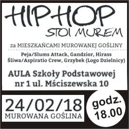 Hip Hop Stoi Murem za Mieszkańcami Murowanej Gośliny