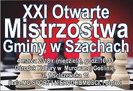 XXI Otwarte Mistrzostwa Gminy w Szachach