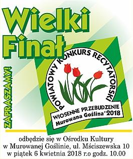 """Wielki Finał XIX Powiatowego Konkursu Recytatorskiego """"Wiosenne Przebudzenie"""""""