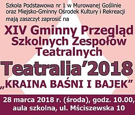 Teatralia 2018 - Kraina Baśni i Bajek