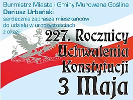 Obchody 227 Rocznicy Uchwalenia Konstytucji 3 maja