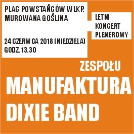 Letni koncert plenerowy zespołu Manufaktura Dixie Band