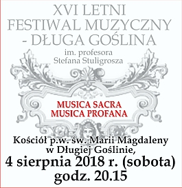 XVI Letni Festiwal Muzyczny - Długa Goślina - Musica Sacra - Musica Profana