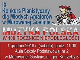 IX Konkurs Pianistyczny dla Młodych Amatorów w Murowanej Goślinie