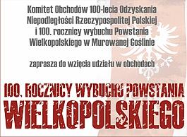 Obchody 100 Rocznicy Wybuchu Powstania Wielkopolskiego