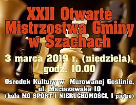 XXII Otwarte Mistrzostwa Gminy w Szachach