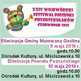 XXIV Wojewódzki Festiwal Piosenki Przedszkolaków - Czerwonak 2019