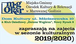 Zaproszenie na zajęcia w sezonie kulturalnym 2019/2020