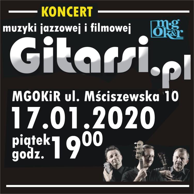 Koncert muzyki jazzowej i filmowej Gitarsi.pl