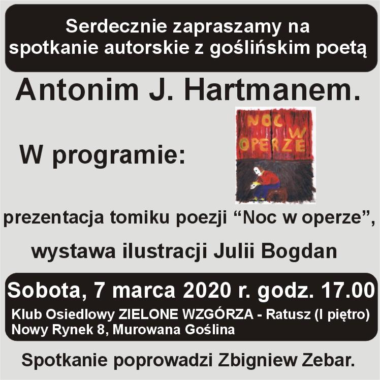 Spotkanie autorskie z goślińskim poetą Antonim J. Hartmanem